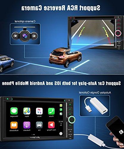 PUMPKIN 8.0 Stereo DVD CD WiFi, RAM, Fastboot, Camera, Auto, 128GB AUX, 6.2