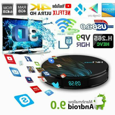 Android MAX 3D BOX 16GB/32GB/64G RK3328 4K Media Player Top