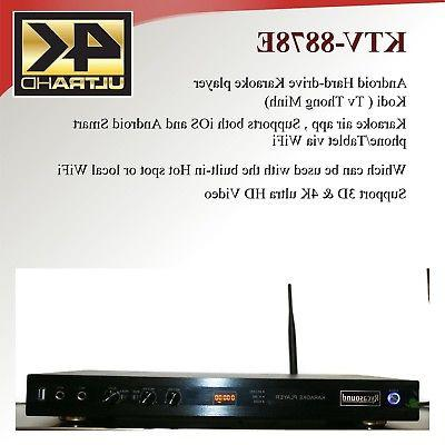 Android KTV-8878E karaoke player 4tb harddrive load with 390