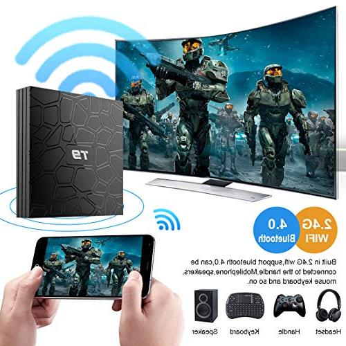 Android Box, T9 Android Box,4GB 64GB RK3328 Quad-core, Support Full 2.4Ghz BT Box