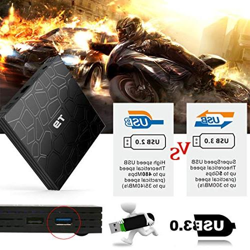 Android TV T9 Android Box,4GB ROM RK3328 Quad-core, Full BT 4.1 Smart Box