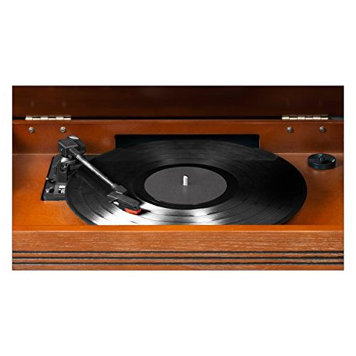 Innovative The 7-In-1 Bluetooth Wooden Music Center