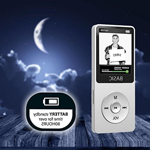 SAMVIX Basic MP3 4GB, Hours Music Player, Supports with FM New Model Mp3 for