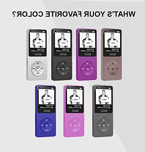 SAMVIX Basic MP3 Player 4GB, 80 Lossless Supports with Radio, New Mp3 Player for and Adults