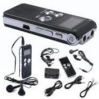Black SK012 Rechargeable 8GB Digital Audio Dictaphone MP3 Pl