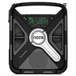 Eton Black Tri-Power Rugged Bluetooth Smartphone Charging We