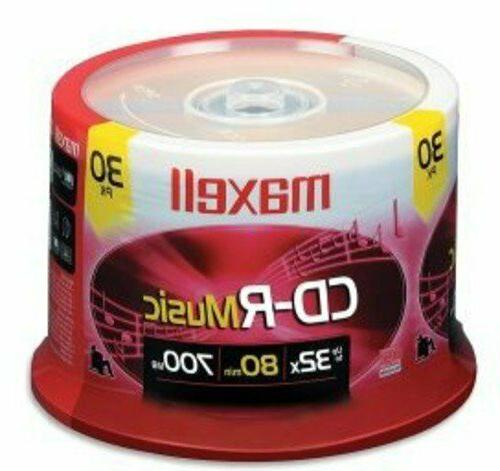 Blank Recordable CD R Music CDs Discs Audio 700MB Player Med