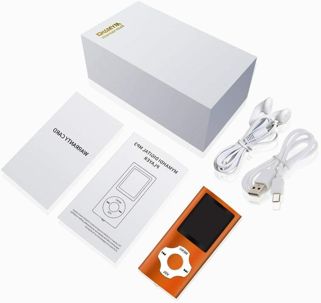 MYMAHDI Bluetooth / Player 32GB Memory 1.8''LCD Screen