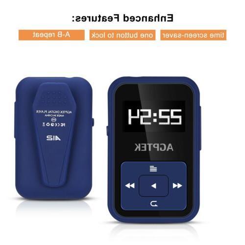 AGPTEK MP3 8GB with Clip Slot up for