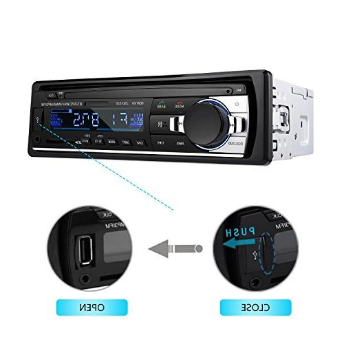 Bluetooth Car Stereo DIN In 12V FM Radio Player with Control
