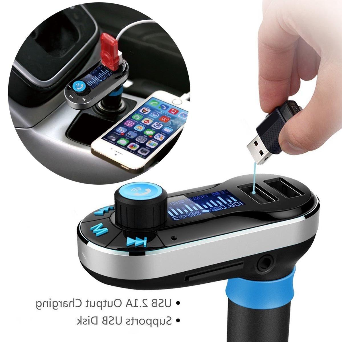 Wireless Car FM MP3 Hands free Radio Adapter Kit Charger