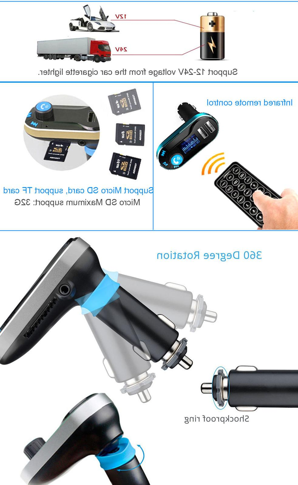 Wireless MP3 Player Radio Adapter Charger