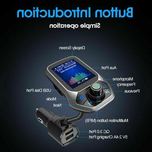 Bluetooth Car MP3 Radio Adapter USB Charger