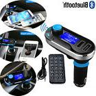 Bluetooth Car Kit MP3 Player FM Transmitter SD USB Charger F