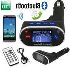 Bluetooth Car Kit Radio Adapter Handsfree FM Transmitter for