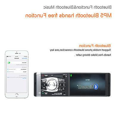 Bluetooth Car 4.1 inch Player Stereo HD W/Remote
