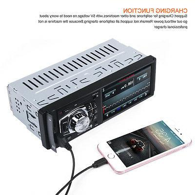 Bluetooth Car inch Player Stereo HD FM Aux W/Remote 1 Din