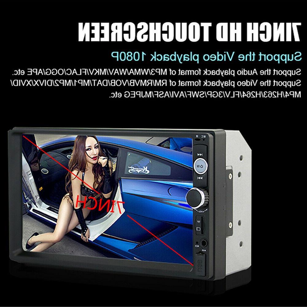 """7"""" Car MP5 Player Bluetooth Screen Radio USB AUX"""