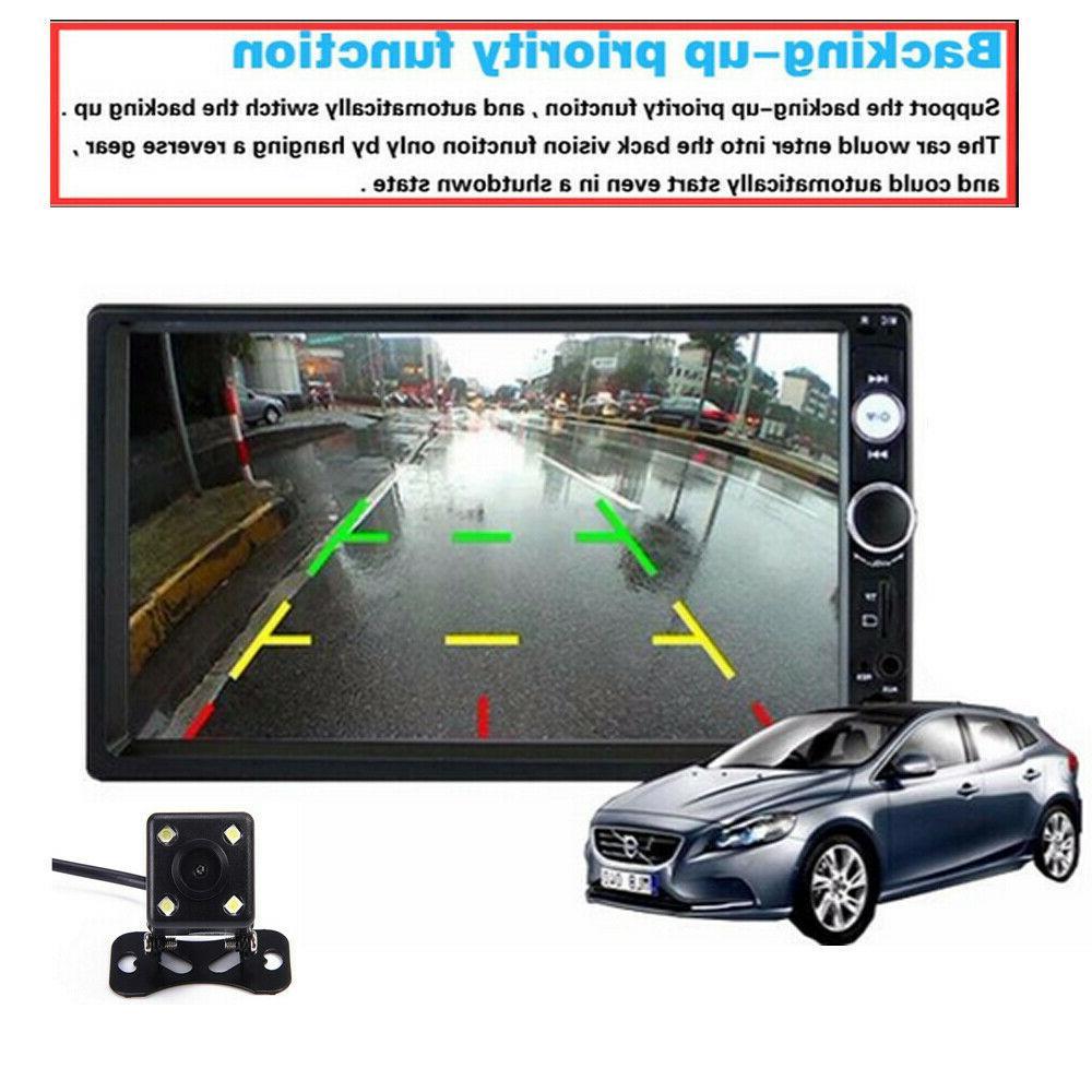 """7"""" 2DIN MP5 Screen AUX Camera"""