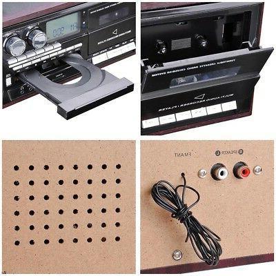 LCD Vinyl Record Play CD MP3 Music w/ 2 Speaker