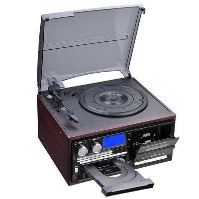 LCD Record Play CD Cassette Music w/ Speaker