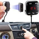 Bluetooth Magnet Handsfree LCD FM Transmitter Car Wireless M