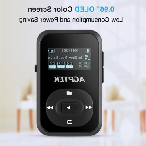 AGPTEK MP3 Player Bluetooth 4.0 FM Radio Portable Music Player Black