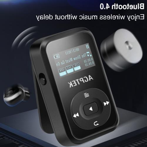 AGPTEK Player Clip Bluetooth 4.0 Portable HIFI Music Black