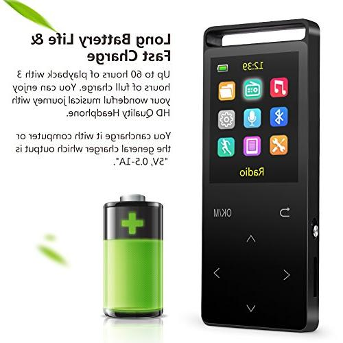 16GB with Radio/Voice Recorder, 60 Hours Playback, Sound,Metal Inch Color Screen, an