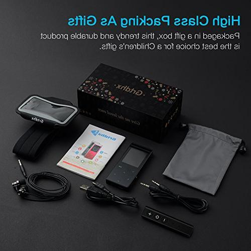16GB Player with 60 Sound,Metal Touch Button, Inch Screen, Sound Earphone, an Armband, Black Bluetooth