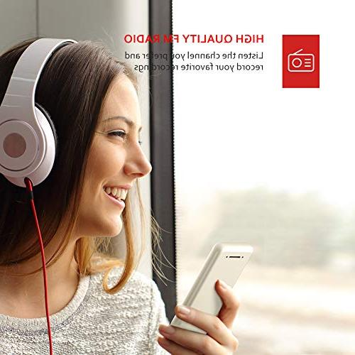 8GB Music with Earphones, Built-in Radio, Pedometer, HiFi Sound Support up 64GB
