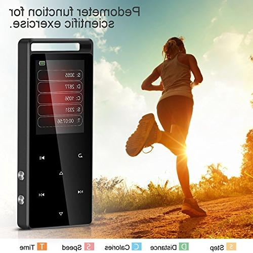 Bluetooth Touch Sound Metal Music with Inch TFT Screen,Support to 128GB,Gray