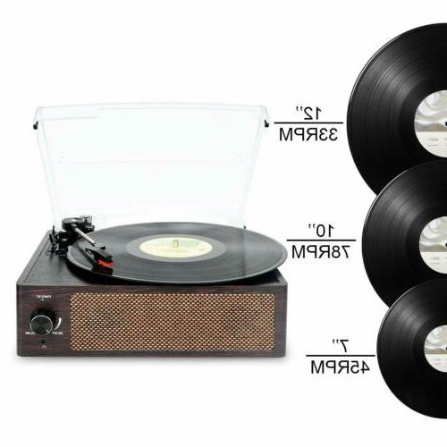Bluetooth Record Belt-Driven 3-Speed Turntable Vintage Record