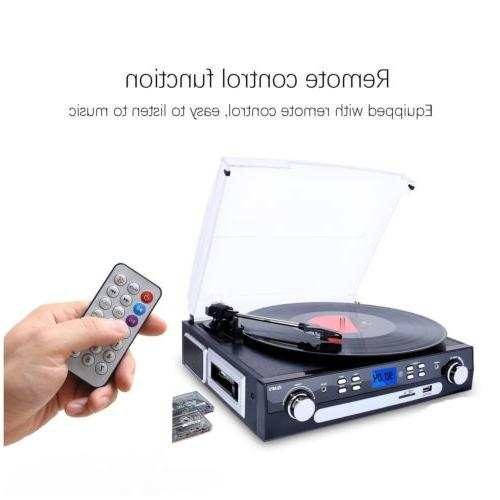 Bluetooth Record Player Turntable with Vinyl