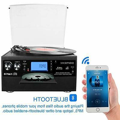 Bluetooth Turntable with Speaker, Vinyl to