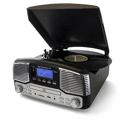 BLUETOOTH RETRO LP 33/45/78 RPM RECORD CD PLAYER FM STEREO R