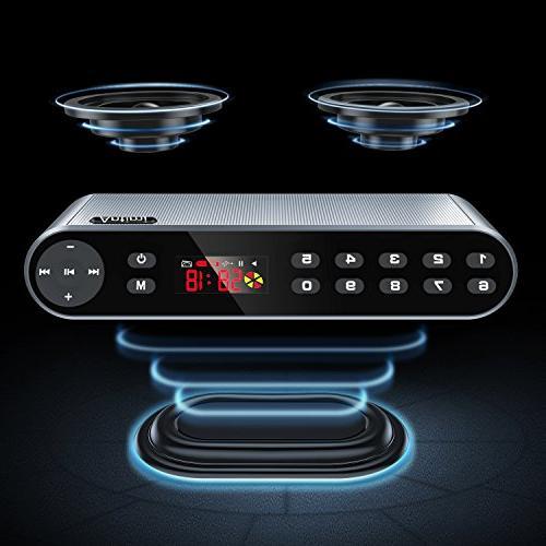 Antimi Speaker,FM Radio Player,MP3 Player Wireless Speaker HD Sound, High Audio Enhanced