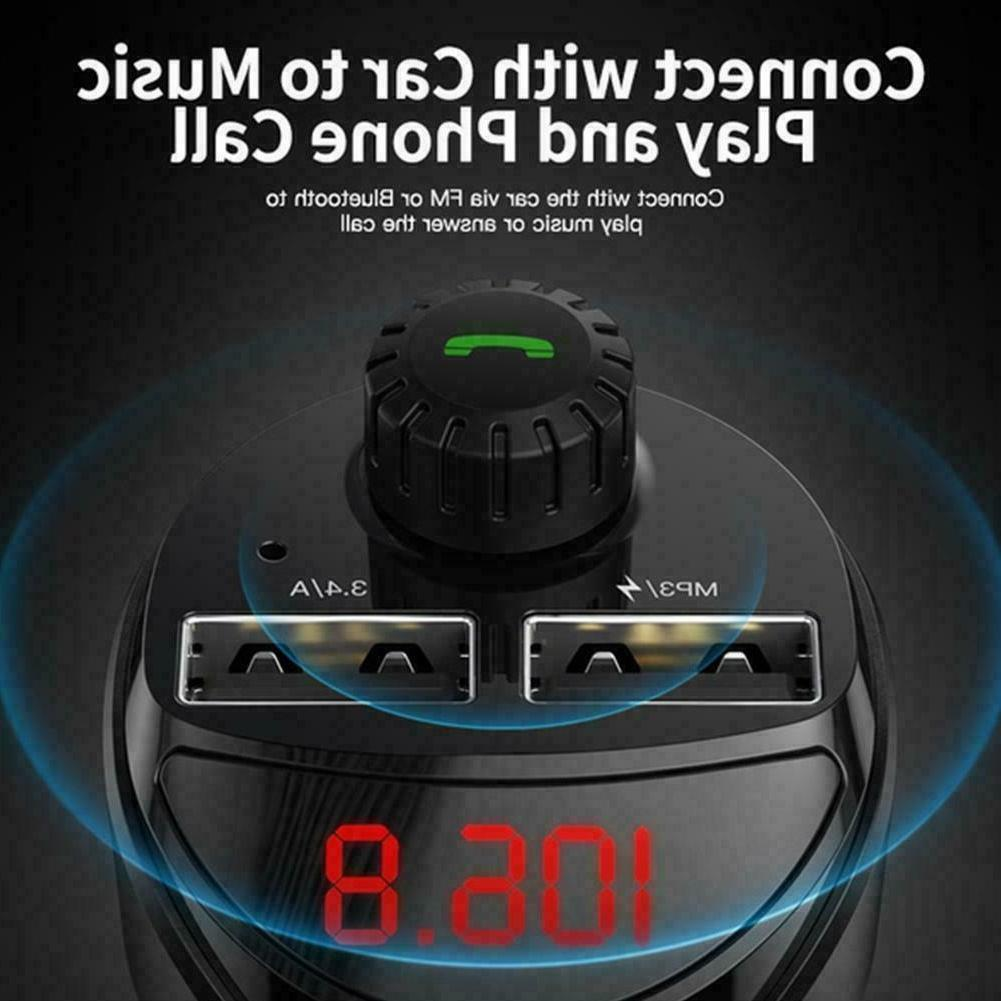 Bluetooth Charger MP3 Phone Wireless Transmitters Q4T0