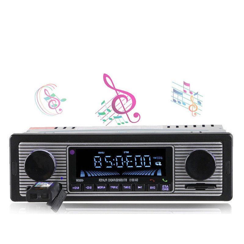 Bluetooth Vintage Radio AUX Classic Receiver