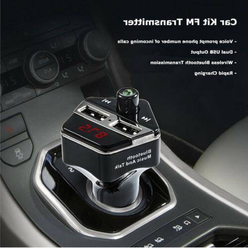 Bluetooth MMC MP3 Player Radio FM Transmitter Car Kit Charge