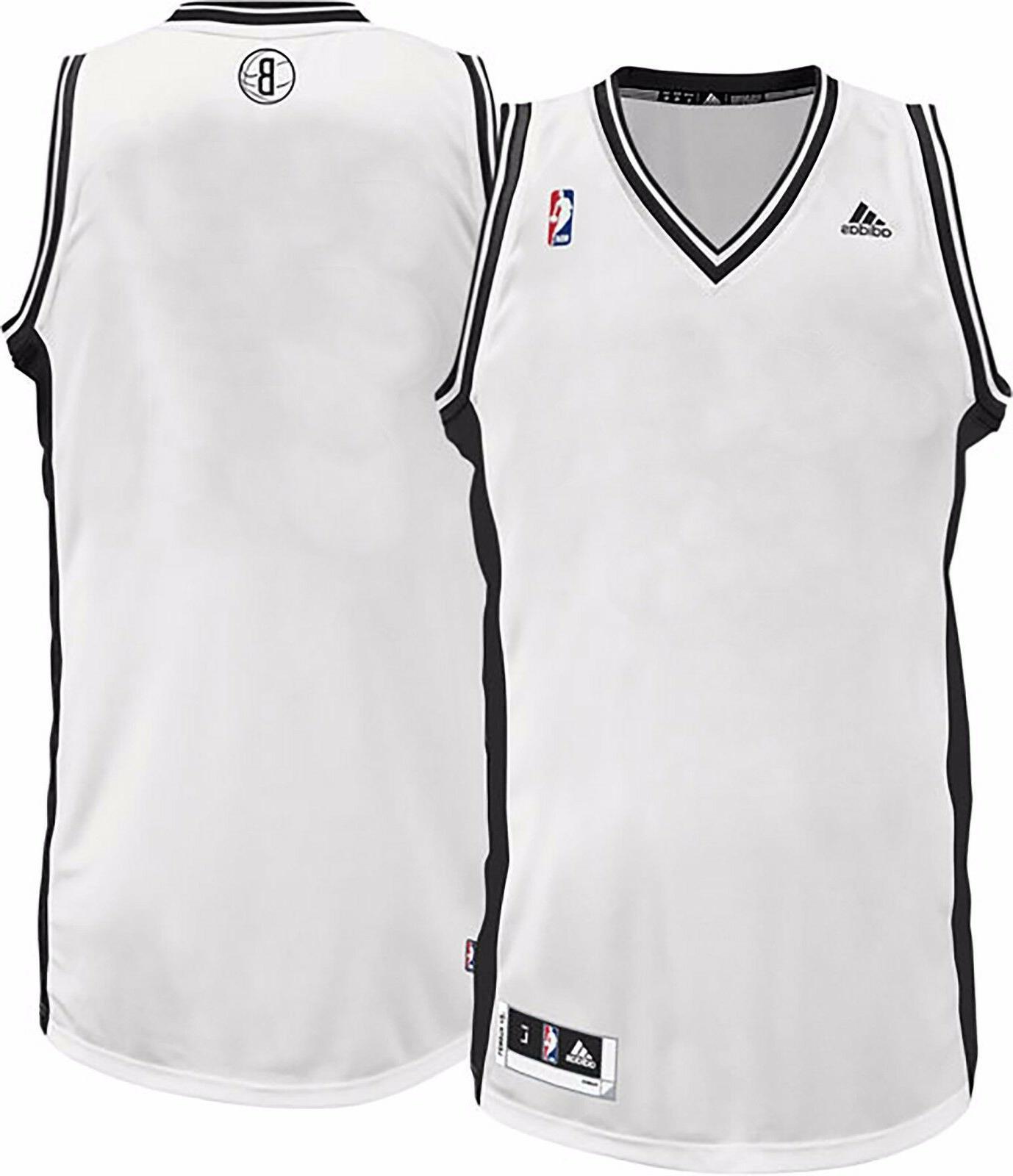 Brooklyn Nets NBA adidas White Blank Basketball Jersey