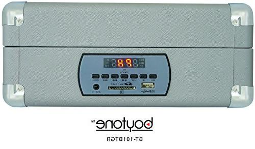 Boytone BT-101TBGR 5 1 AC-DC Built Battery, With Stereo Speakers Display, FM Radio, Slot, + MP3, Encoding, Headphone Jack