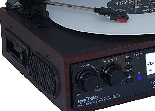 Boytone BT-19DJM-C 3-speed 2 Speakers Large Digital Cassette, WMA Playback /Recorder Headphone Remote