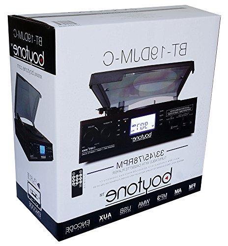 Boytone 2 Built in Large Digital Display AM/FM, Cassette, WMA Headphone Control