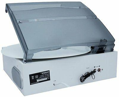 Boytone BT-37WT-C 3-Speed Turntable Speakers, AM/FM Radio Cassette White Color