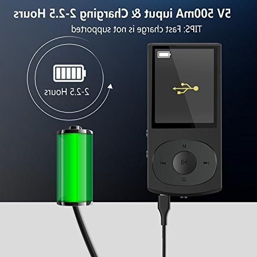 AGPTEK Bluetooth 4.0 MP3 Casing Lossless Shuffle Radio, Up