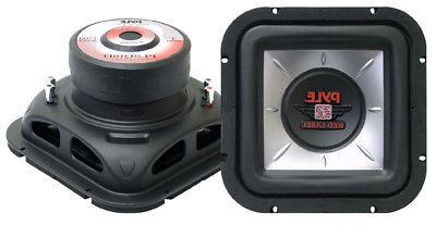 Pyle Car Audio PLSQ10D New 10 Inches Square Dvc Subwoofer 12