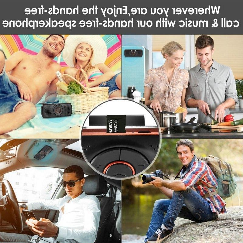 Car Speakerphone Stereo Music <font><b>Player</b></font> Mic/Tf Card Hands