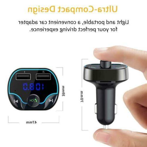 Car Cigar Plug FM Transmitter MP3 Player Radio Kit USB Charger