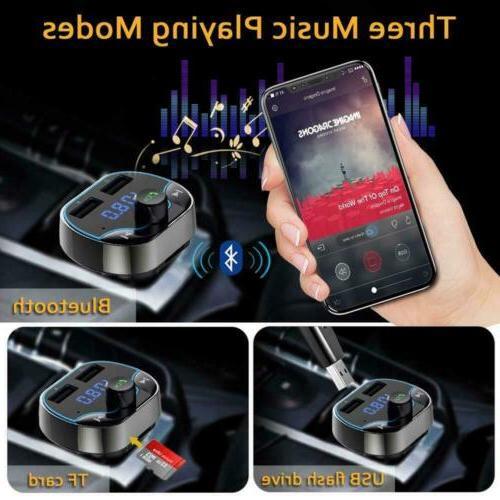 Car Cigar Plug Bluetooth FM Radio Adapter Kit USB Charger